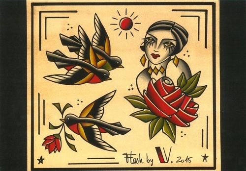 Flash-tattoo-romantique