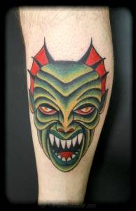 Green monster tattoo-vittoriatattoo-forever-yours