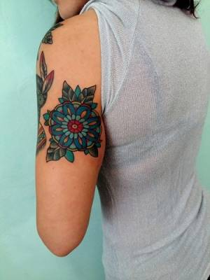 Old-school-flower-tattoo