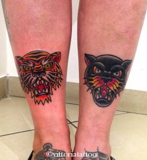 Old school tiger tattoo-tattoo by vittoria