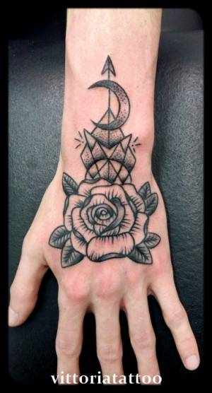 Rose-hand-tattoo