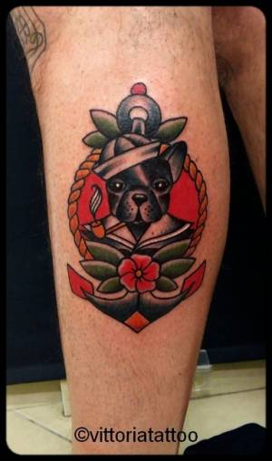 old schooltattoo sailor dog tattoo