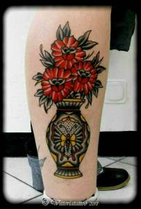Flower-vase-tattoo