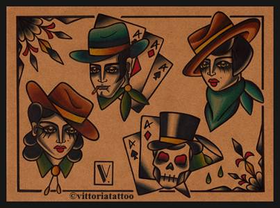 western tattoo flash-como tattoo shop tattoos by vittoria