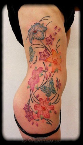 Mix flowers tattoo