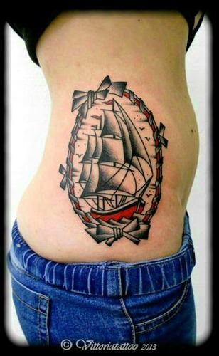 Sailboat tattoo