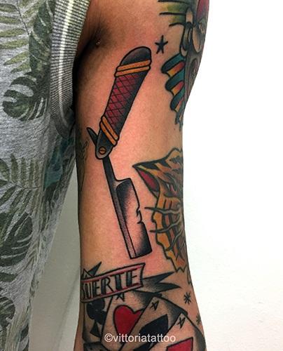 Old school razor tattoo