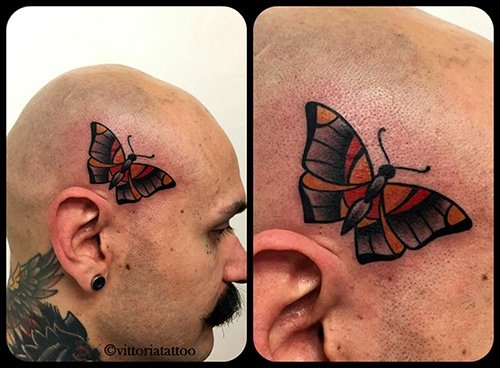 old school butterfly tattoo-shop tattoo como vittoria