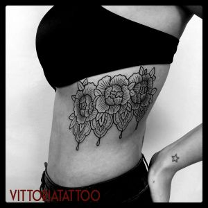 decorative flowers tattoo