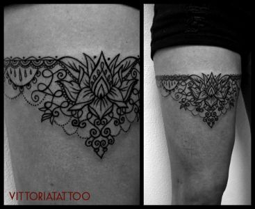 Black-White Tattoo serie Ornamental Garter