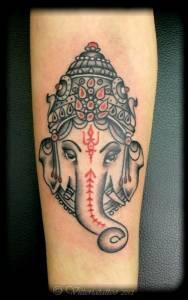 Ganesha tattoo -Vittoriatattoo