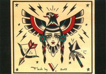 indienne fatal|flash tattoo como|vittoriatattoo