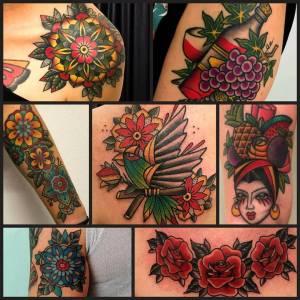 Tatuaggi Colorati by vittoriatattoo via volta 49 COMO Italy