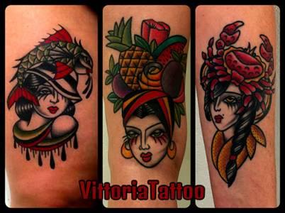 v girlz tattoos di toya vittoria, studio forever yours como