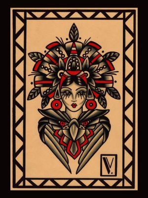 Tupa maya|flash tattoo|vittoriatattoo