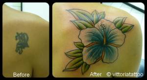 Cover tattoo-flower