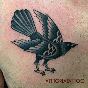 crow tattoo-como tattoo-by vittoriatattoo