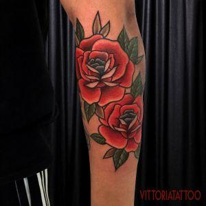 double roses tattoos-tattoocomo-vittoria