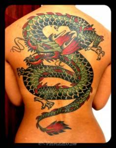 Dragon back tattoo