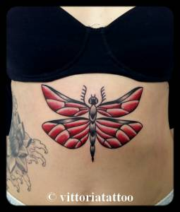 Dragonfly tattoo-tatuaggi como- vittoriatattoo