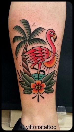 Flamingo tattoo|tattoo como|vittoriatattoo