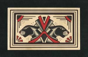 Flash tattoo 2015 Panthers art deco