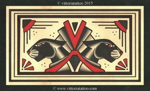 flash-tattoo-2015-Panthers-art-deco