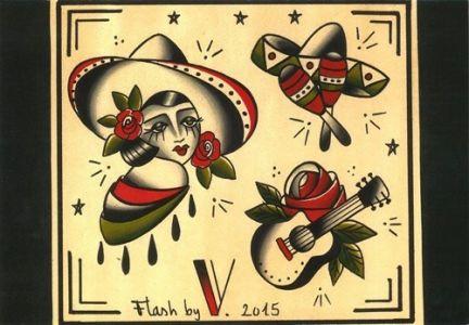 flash tattoo|la muchacha|vittoriatattoo