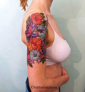 flowers-arm-tattoo