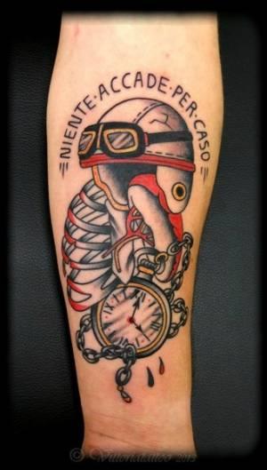 Tattoo Como Vittoria|Tattoo Helmet ribs pocket watch|vittoriatattoo