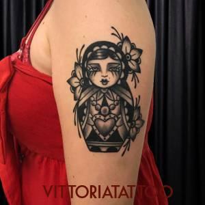 Matriochka Tattoo-Tattooed by Toya Vittoria-como tattoo shop