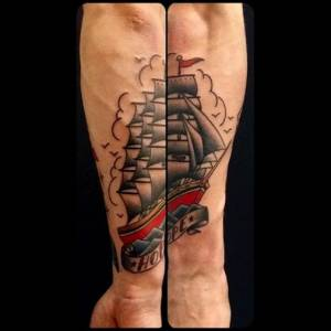 Old-school-boat-tattoo