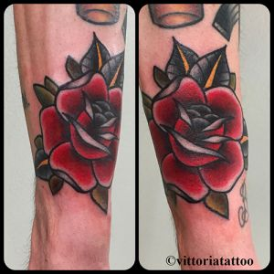 old school rose tattoo