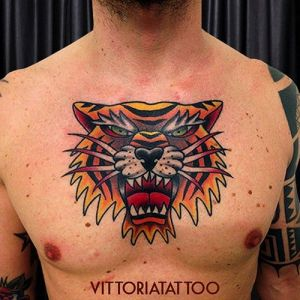 old-school-tiger-head-tattoo 2