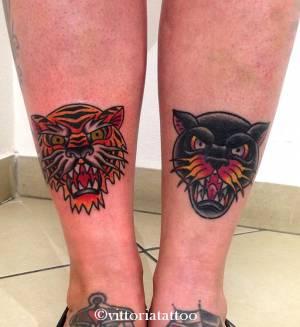 Old school tiger tattoo-tattoo by vittoria