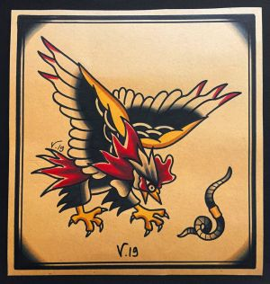 oldschool rooster|flash tattoo|vittoriatattoo