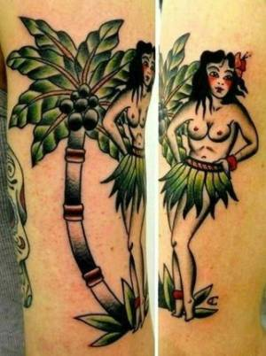 hawaienne pinup Tattoo|Tattoo Como|via volta 49 Como