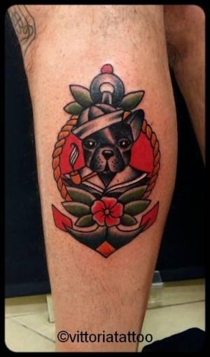 old schooltattoo sailor dog tattoo