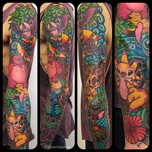 stitch and friends como tattoo shop vittoriatattoo