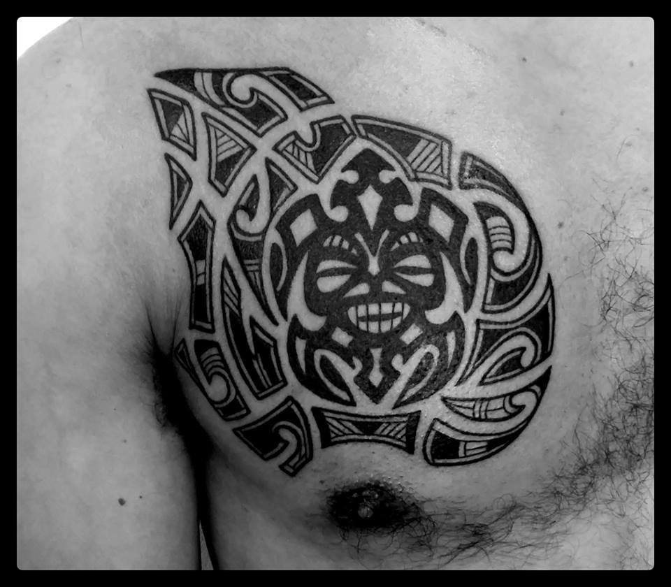Maori Style bust by Vittoria|tattoo como|vittoriatattoo
