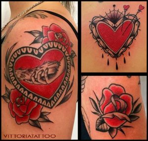 Como Tattoo|Black & Red Tattoos|vittoriatattoo