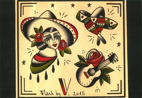 la muchacha flash tattoo