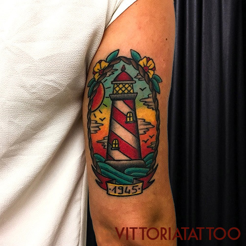 lighthouse tattoo|tatuaggi como|vittoriatattoo
