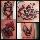 black and red tattoos