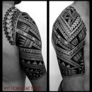 Polynesian Arm Tattoo