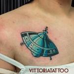 Flying Saucer Tattoo|tattoo como|vittoriatattoo