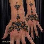 ornamental tattoo hand|Tattoo Como|vittoriatattoo