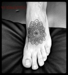 mandala outline tattoo