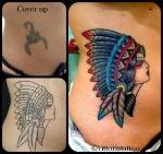 old school indian girl tattoo