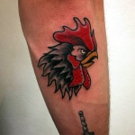 Tatuaggio gallo-vittoriatattoo-Tatuaggi como